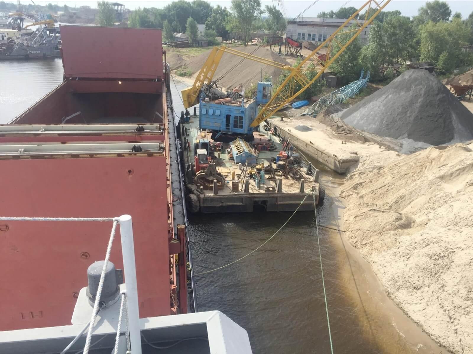 Shipment of crushed stone