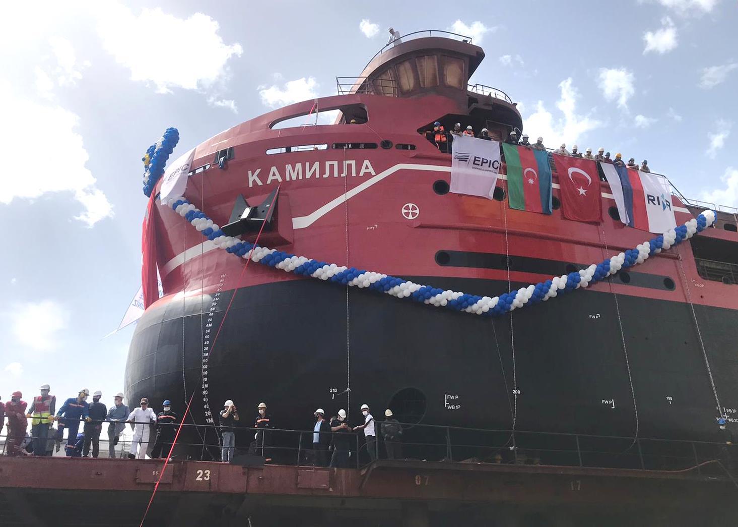 Спуск первого судна проекта U-Type «Камилла»