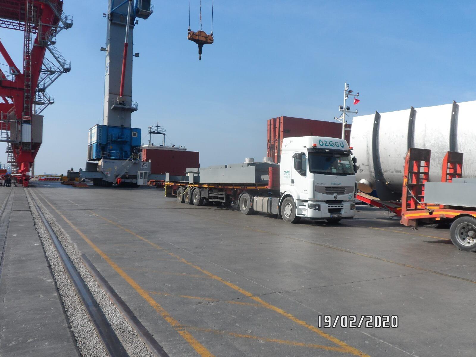 Перевозка оборудования для производства сахарного песка