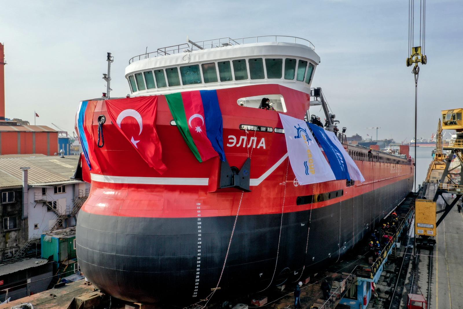 Спуск на воду «Эллы», второго судна проекта U-type