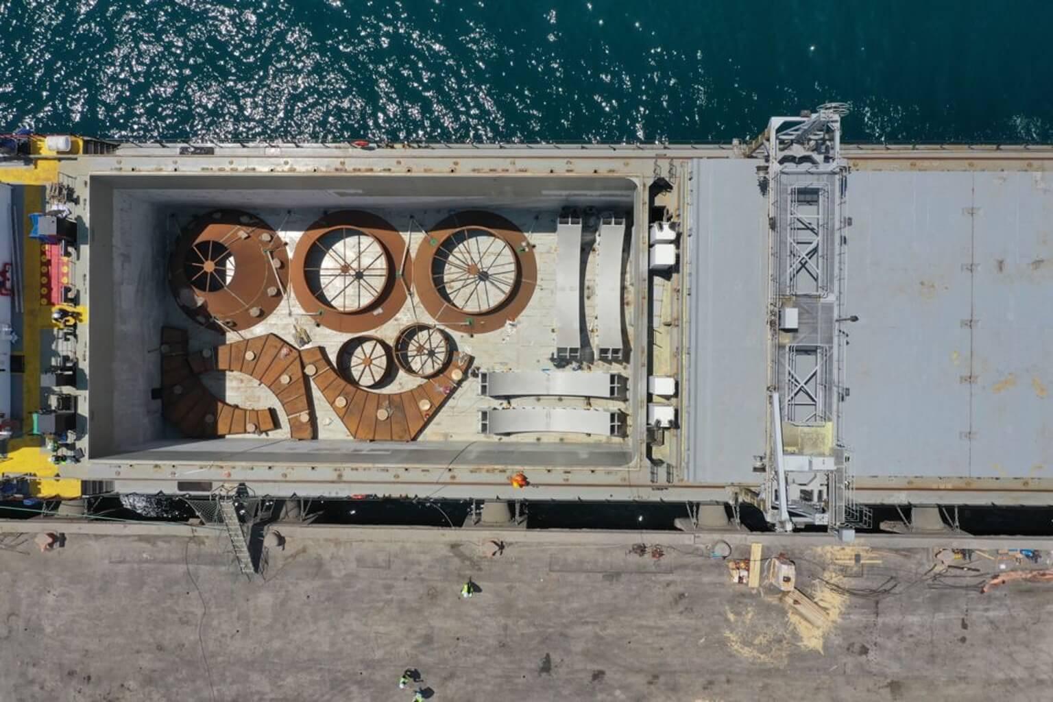 т/х Камилла завершила доставку генерального груза из порта Измир, Турция в Красноярск, Россия